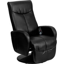 Massaging Leather Recliner
