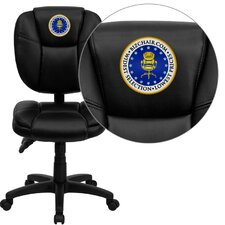 Personalized Mid-Back Leather Multi-Functional Ergonomic Task Chair