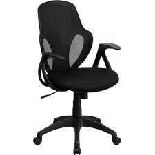 <strong>Flash Furniture</strong> Mid-Back Executive Mesh Chair with Nylon Base