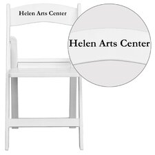 Hercules Series Personalized Resin Folding Chair with Slatted Seat