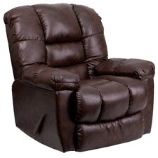 Contemporary New Era Leather Chaise Rocker Recliner