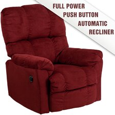 Contemporary Microfiber Power Recliner