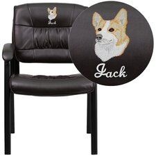 Personalized Leather Reception Chair