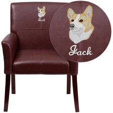 Personalized Leather Executive Reception Chair