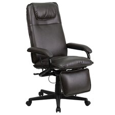 High-Back Leather Executive Reclining Office Chair