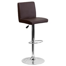 Contemporary Vinyl Adjustable Height Bar Stool