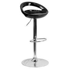 Contemporary Plastic Adjustable Height Bar Stool
