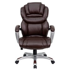 High-Back Leather Layered Upholstered Executive Chair