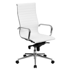 High-Back Upholstered Leather Executive Office Chair