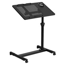 "Adjustable Height Steel Mobile 22.5"" W x 17.5"" D Computer Table"