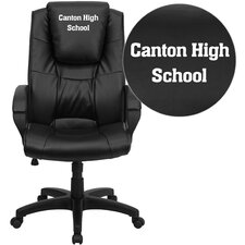 Personalized Leather Executive Office Chair