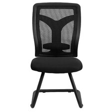 Mesh Side Chair with Mesh Seat and Adjustable Lumbar Support