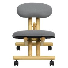 Low-Back Height Adjustable Kneeling Chair with Dual Wheel