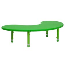 Height Adjustable Half-Moon Plastic Activity Table