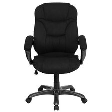 High-Back Microfiber Upholstered Office Chair