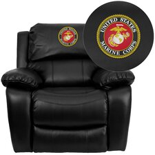 Personalized Leather Rocker Recliner