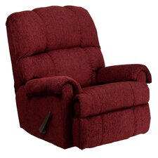 Contemporary Chenille Rocker Recliner