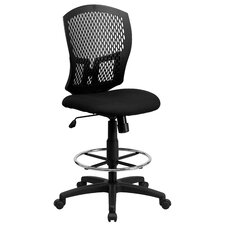 Mid-Back Designer Back Drafting Stool with Padded Seat