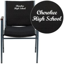 Hercules Series Personalized Heavy Duty Upholstered Stackable Chair with Arms