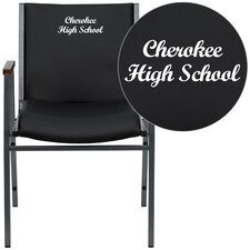 Hercules Series Personalized Heavy Duty Vinyl Stackable Chair with Arms