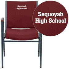 Hercules Series Heavy Duty Personalized Upholstered Stackable Chair with Arms