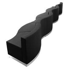 Hercules Alon Series 7 Piece Leather Reception Configuration Set
