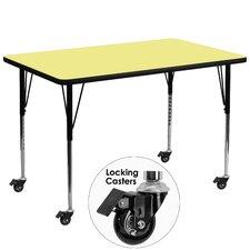 Mobile Rectangular Classroom Table