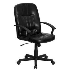 <strong>Flash Furniture</strong> Mid-Back Leather Office Chair