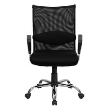 Mid-Back Mesh Manager's Office Chair with Padded Seat