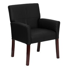 <strong>Flash Furniture</strong> Reception Chair with Mahogany Legs