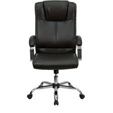 <strong>Flash Furniture</strong> High-Back Leather Executive Chair with Chrome Base and Arms