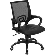 Mid Back Leather Task Chair