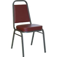"<strong>Flash Furniture</strong> 2.5"" Hercules Series Trapezoidal Back Stacking Banquet Chair with Silver Vein Frame"