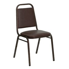 "<strong>Flash Furniture</strong> 1.5"" Hercules Series Trapezoidal Back Stacking Banquet Chair with Copper Vein Frame"
