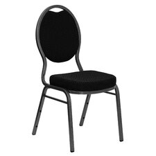 <strong>Flash Furniture</strong> Hercules Series Teardrop Back Stacking Banquet Chair With Silver Vein Frame
