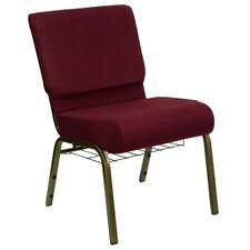 Hercules Series 21'' Extra Wide Church Chair with 4'' Thick Seat and Communion Cup Book Rack