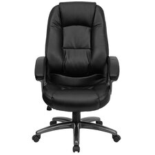 High-Back Office Chair with Metal Base