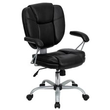 Mid-Back Task Chair with Platinum Frame