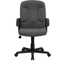 Mid-Back Fabric Task Chair with Nylon Arms