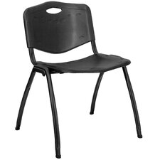 Hercules Series Polypropylene Stack Chair in Black