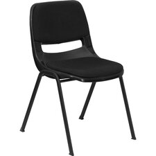 Hercules Series Ergonomic Shell Stack Chair in Black