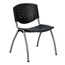 <strong>Flash Furniture</strong> Hercules Series Polypropylene Stack Chair with Titanium Frame Finish in Black