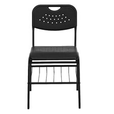 Hercules Series Plastic Classroom Chair with Book Basket