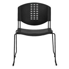 <strong>Flash Furniture</strong> Hercules Series Plastic Stack Chair with  Powder Coated Frame