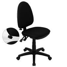<strong>Flash Furniture</strong> Mid-Back Multi-Functional Task Chair with Adjustable Lumbar Support