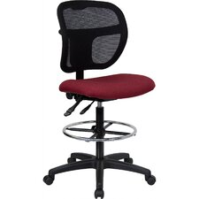 <strong>Flash Furniture</strong> Height Adjustable Drafting Stool with Curved Back