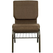 "Hercules Series 18.5"" Wide Church Chair with 4.25"" Thick Seat Book Rack"