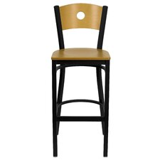 Hercules Series Circle Back Metal Restaurant Bar Stool