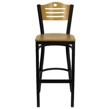 Hercules Series Slat Back Metal Restaurant Bar Stool