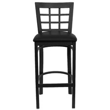 Hercules Series Window Back Metal Restaurant Bar Stool